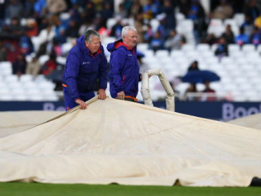 Rain and wet outfield forced India-NZ match to be abandoned on Thursday. AFP