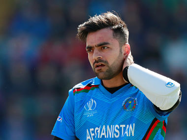 Rashid Khan logged the worst bowling figures in World Cup history. Reuters