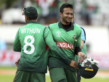 Shakib rated his ton against West Indies as one of the best of his career. AP