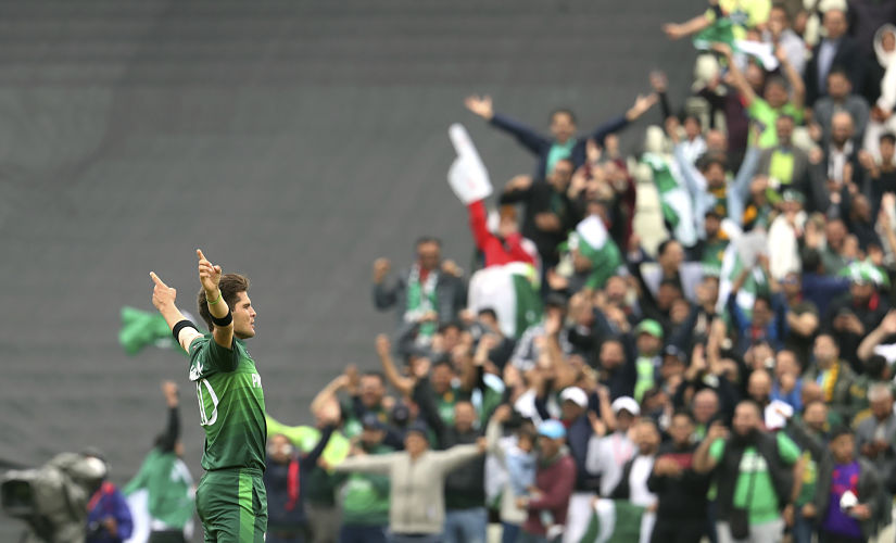 Shaheen Afridi was the star with the ball for Pakistan with figutes of 3/28. AP