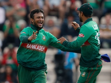 File image Shakib Al Hasan. Image courtesy Twitter @CricketWorldCup