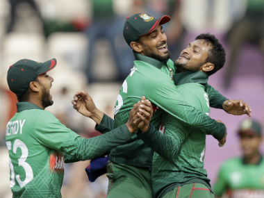 Shakib Al Hasan is only the second player in World Cup history to take five wickets and score a half-century in same match. AP