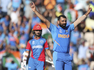 Shami is the second Indian bowler to take a hat-trick in World Cup. AP