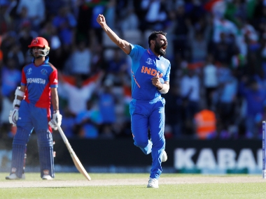 Mohammed Shami claimed a hat-trick in the last-over to seal a nail-biting game against Afghanistan. Reuters