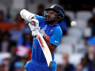 Shikhar Dhawan was hit on the thumb against Australia during ICC World Cup 2019. Reuters