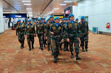 Indian female peacekeepers assume duties in UN mission in Congo focus on working with conflictaffected women and children