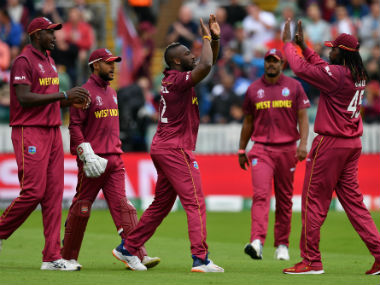 Success for West Indian pacers was few and far between. AFP