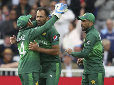 Wahab Riaz, pick of the Pakistan bowlers (3/82), celebrates after dismissing Moeen Ali. AP