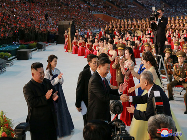 I love you China North Korea woos Xi Jinping in lavish welcome features special performance Mass Games by host Kim Jongun