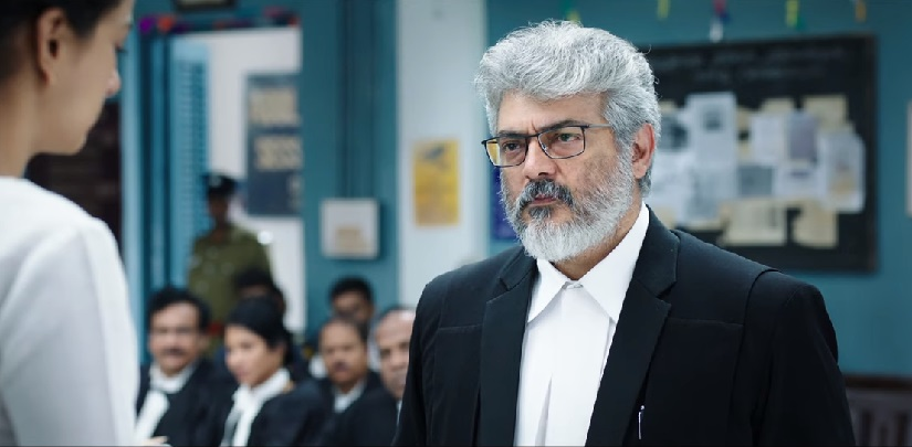 Nerkonda Paarvai trailer Ajith plays a determined lawyer takes down goons in Tamil remake of Pink
