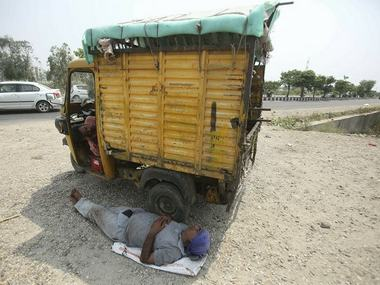 Heat wave persists over northern India Temperatures in parts of Rajasthan Uttar Pradesh reach around 47 degrees Celsius