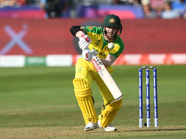 Australia's David Warner bats during the 2019 Cricket World Cup group stage match between Afghanistan and Australia at Bristol County Ground in Bristol, southwest England, on June 1, 2019. (Photo by Dibyangshu SARKAR / AFP) / RESTRICTED TO EDITORIAL USE
