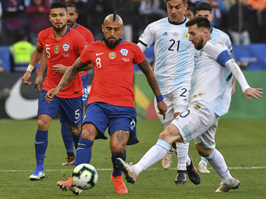 Copa America 2019 Lionel Messi shown red card as Argentina beat Chile 21 to finish third in tournament