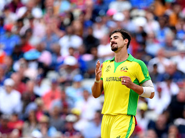 Australia's Mitchell Starc in action against England in their 2019 Cricket World Cup semi-final clash. AFP