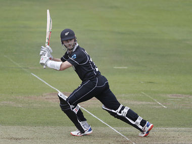 New Zealand captain Kane Williamson plays a shot off England's Liam Plunkett during the Cricket World Cup final at Lord's. AP