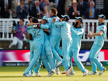 England players celebrate after the final. Reuters