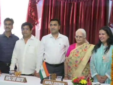 Four new ministers inducted into Goa cabinet including exdeputy Speaker Michael Lobo and three Congress defectors