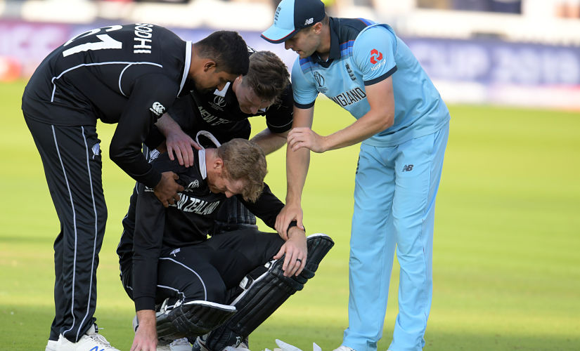 Martin Guptill was inconsolable after the loss. AFP