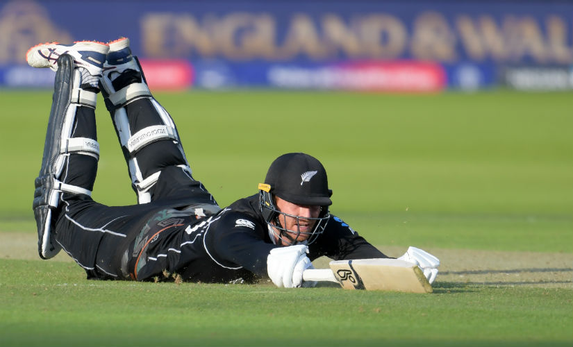 Martin Guptill fails to make ground against England in the final. AFP