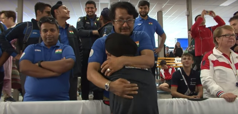 ISSF Junior World Cup With gold Sarabjot Singh moves coach Jaspal Rana to tears puts smile on Indian contingents faces