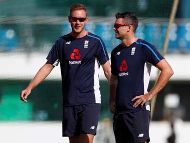 File image of James Anderson and Stuart Broad. Reuters
