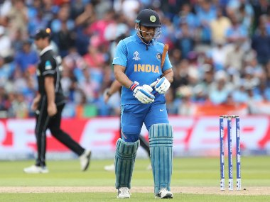 India's decision to bat MS Dhoni at No 7 backfired against New Zealand in the semi-finals. AP