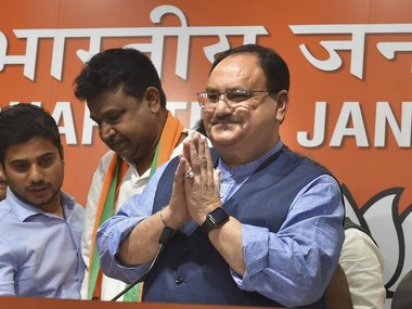 At meet with RSS JP Nadda presents govts position on Jammu and Kashmir Ram Madhav addresses concerns over NRC