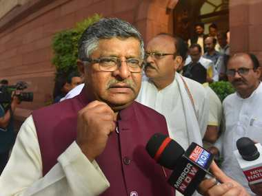 Union Minister Ravi Shankar Prasad exhorts electronics mobile firms to step up manufacturing export from India