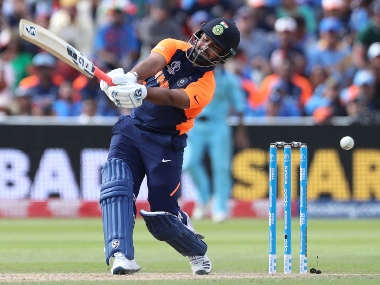 Rishabh Pant came into India's playing XI against England in place of Vijay Shankar. AP