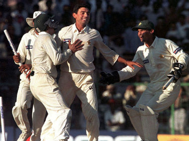 Pakistan's victory over India at Chennai in 1999 receiving an overwhelming 65 percent votes in the PCB poll. Image credit: Twitter/@TheRealPCB