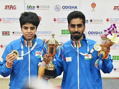 Commonwealth Table Tennis Championships G Sathiyan and Archana Kamath win gold in mixeddoubles Sharath Kamal loses in semis