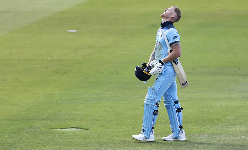Ben Stokes walks back after the match finishes in a tie. Reuters