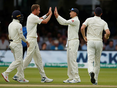 Stuart Broad finished with figures of 4-19. Reuters