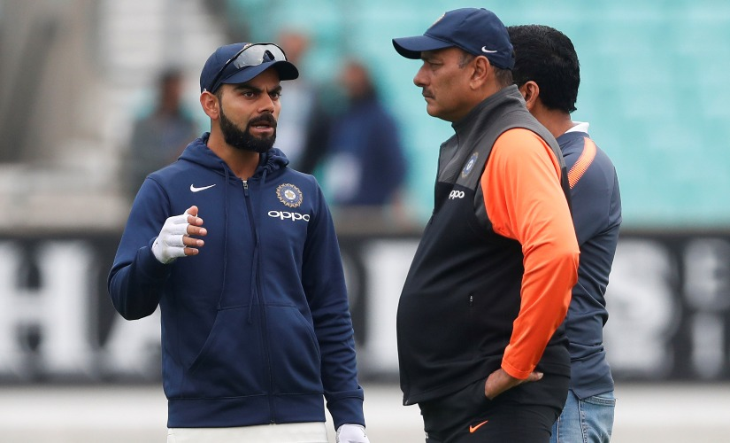 File image of India captain Virat Kohli and coach Ravi Shastri. Reuters