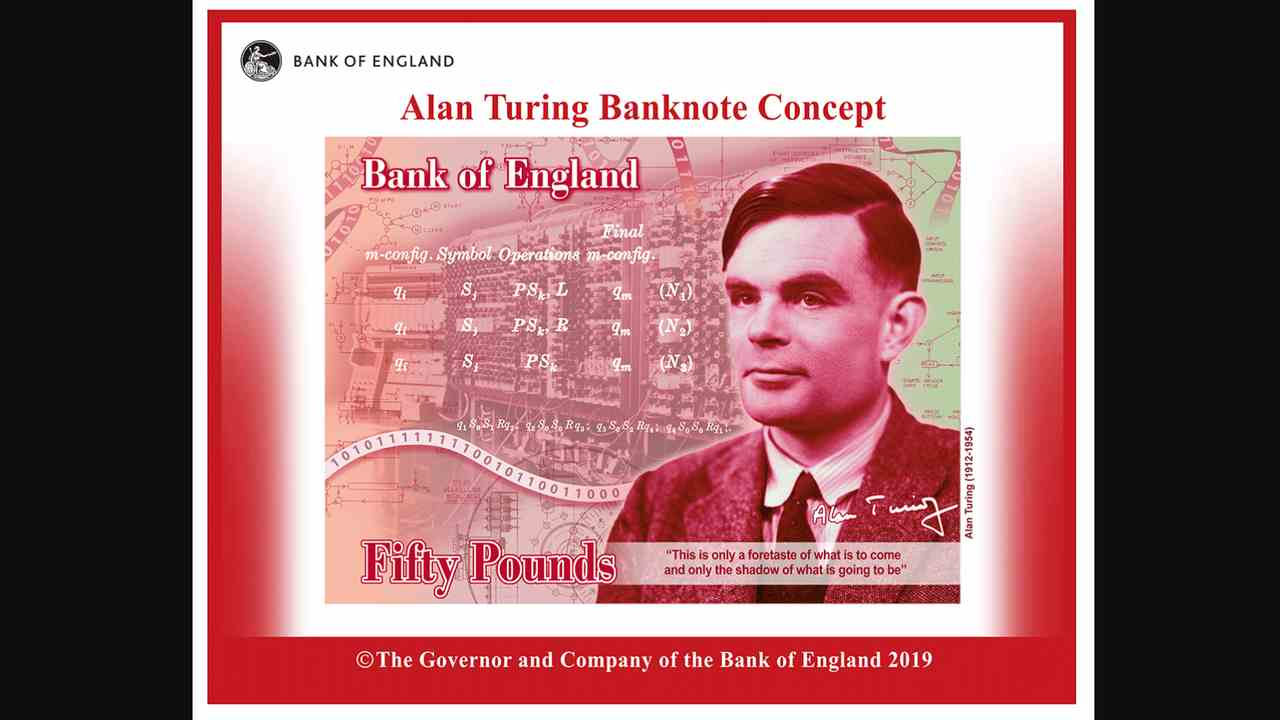 World War II codebreaker Alan Turing will be featured on UKs new 50 pound note
