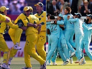 The Australian cricket team in 1999, the English in 2019. Reuters