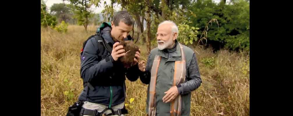 Bear Grylls claims his Man vs Wild episode with Narendra Modi has become worlds most trending televised event