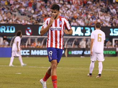 Diego Costa scores four goals as Atletico Madrid thrash Real Madrid 73 in friendly