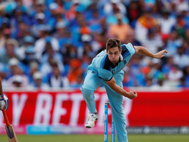 England's Chris Woakes in action