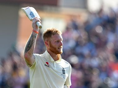 England's Ben Stokes reacts as he leaves the pitch after after England won the third Ashes Test. AFP