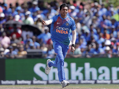 India's Navdeep Saini was found to have breached Article 2.5 of the ICC Code of Conduct for Players. AP
