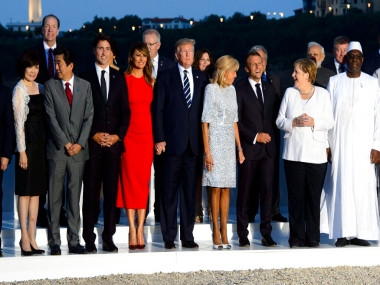 G7 member leaders hold discussions over IranP51 nuclear deal Amazon fires and trade but groups own unity appears shaky