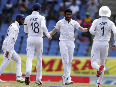 Jasprit Bumrah bowled a devastating spell on Day 4 of 1st Test, collecting figures of 8-4-7-5. AP