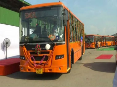 Arvind Kejriwal flags off 25 new buses for Delhi under cluster scheme 1000 in total to be delivered by January 2020