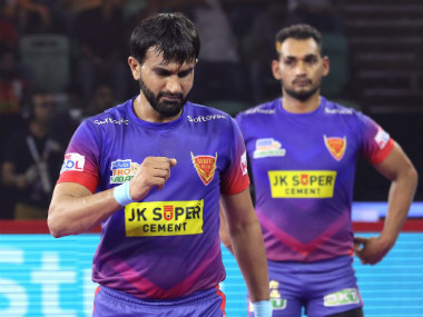 Pro Kabaddi 2019 Highlights Dabang Delhi vs U Mumba in Greater Noida U Mumba Dabang Delhi share points after thrilling tie