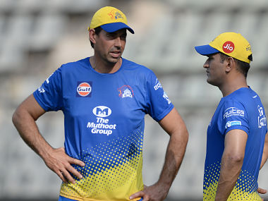 File image of MS Dhoni and Stephen Fleming. AFP