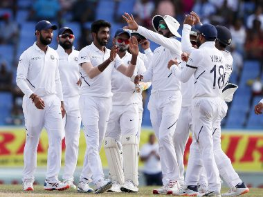 Jasprit Bumrah took 5/7 as India defeated West Indie by 318 runs. AP