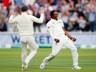 Jofra Archer took five wickets on his Test debut at Lord's and terrorised Australian batsmen with his pace. Reuters