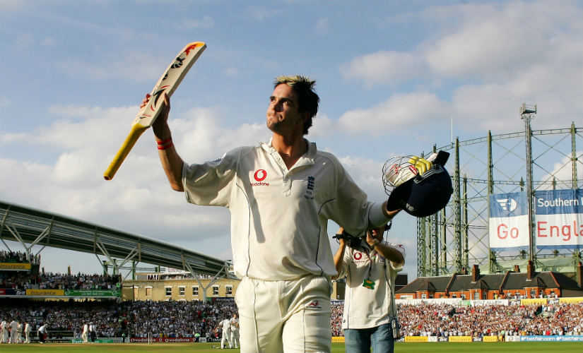 Kevin Pietersen walks off after scoring a magnificent 158 at The Oval on the final day of the fifth Ashes Test in 2005. Reuters