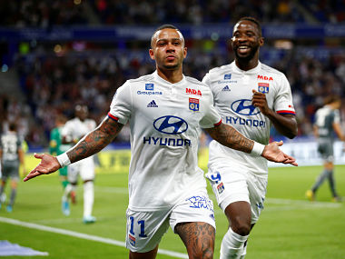 Ligue 1 Memphis Depay Moussa Dembele net braces in Lyons 60 drubbing of Angers
